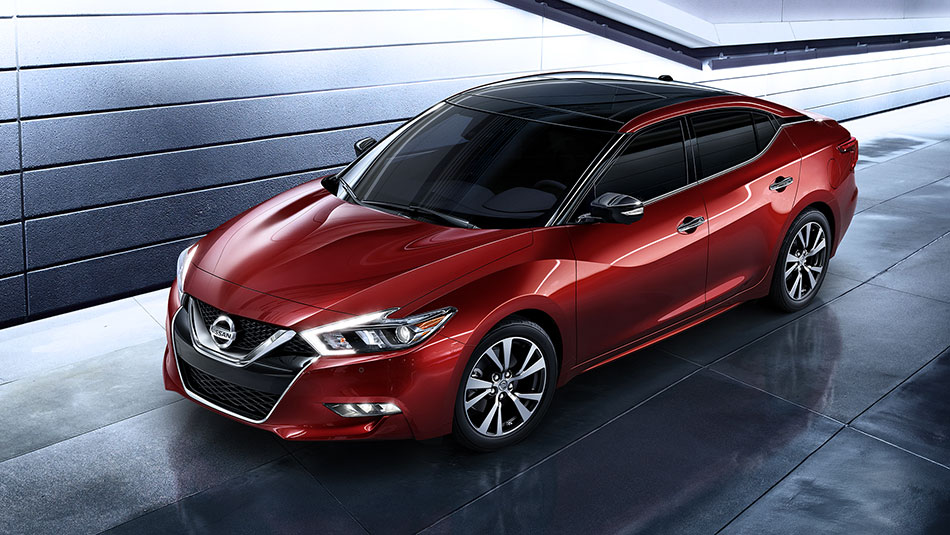 2016-nissan-maxima-coulis-red-aerial-side-view