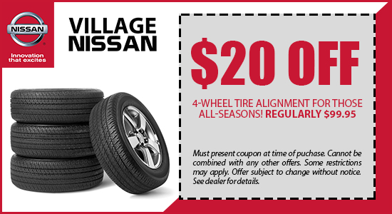 $20 OFF 4-Wheel Tire Alignment