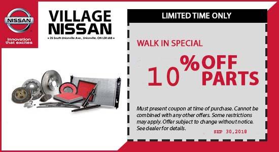 WALK IN PARTS SPECIAL 10%