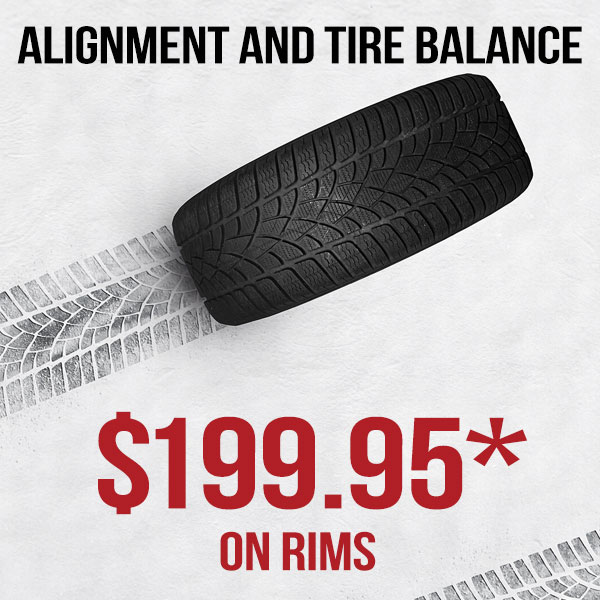 Alignment/Tire Balance Promo incl. Seasonal Tire Swap (on rims)