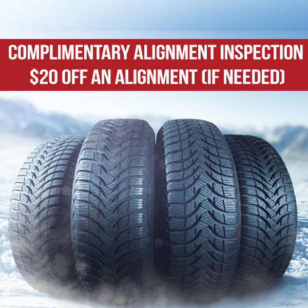 Complimentary Wheel Alignment Inspection & $20 off an Alignment (if needed)