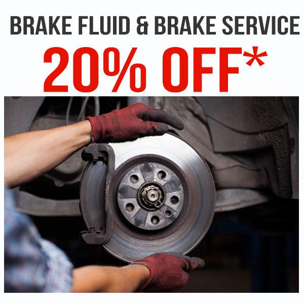 Brake  Fluid & Brake Service – 20% OFF